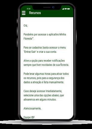 celular com aplicativo aberto